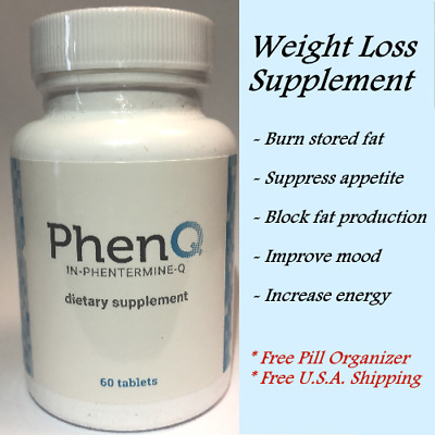 PhenQ Powerful Multiple Weight-Loss Formula FREE PILL ORGANIZER INCLUDED!