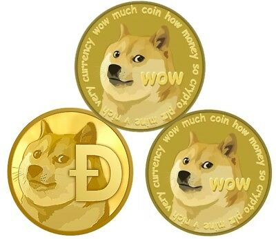 Doge Coin Gold Plated Physical Dogecoin in protective acrylic case FAST SHIPPING