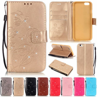 Bling Wallet Leather Flip Case Cover For iPhone XS Max XR 5S SE 6 6S 7 8 Plus X
