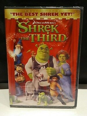 Shrek the Third (DVD, 2007, Full Screen Version) NEW