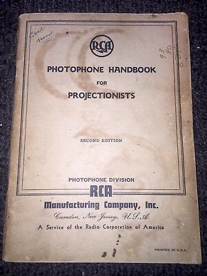 RCA Photophone Handbook For Projectionists 1941 Speaker Amplifier Microphone TV