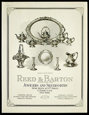 1918 REED & BARTON Sterling Silver Francis 1st RARE Serving Pieces Vtg VOGUE AD