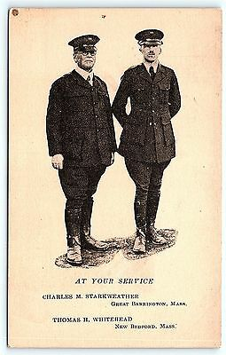 Postcard MA Camp Hingham Navy Naval Training Named YMCA Workers Uniform 1918 R25