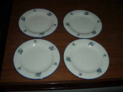 Lot of 4 Doulton Everyday Blueberry 6 1/4 Inch plates