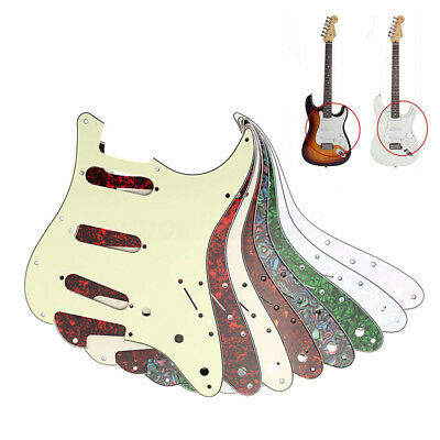 Guitar Pickguard 3 Ply 11 Hole Scratchplate For Fender Strat Stratocaster Newest