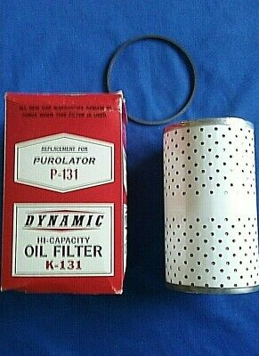 Vintage Dynamic Oil Filter K-131 Chevrolet V8 1956 1957 NORS Replaces AC PF-131