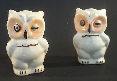 Vintage Shawnee Pottery Owl Set Of Salt & Pepper Shakers