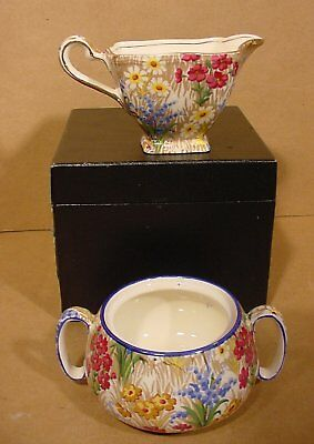 Royal Winton Marguerite (Countess) Chintz Cream and Sugar Made in England