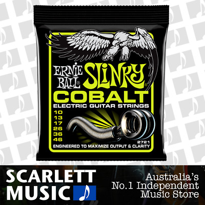 Ernie Ball Regular Slinky Cobalt Electric Guitar Strings 10 - 46 ( 2721 )