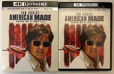 American Made 4K Ultra Hd Uhd Blu Ray 2 Disc Set + Slipcover Sleeve Free Shippin