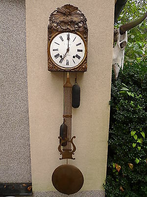 Beautiful, Antique Comtoise__Brass __ Pendulum Clock __ Around 1890__ c. Lafay _