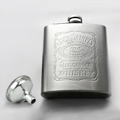 Stainless Steel Hip Liquor Whiskey Alcohol Pocket Flask 8oz with Funnel Portable