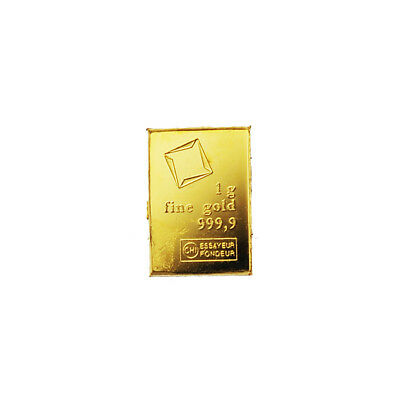 Gold 1 Gram Valcambi Bar CombiBar 99.99% Pure Bullion or Element Collection