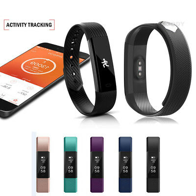 Bluetooth Smart Watch Bracelet Fitness Tracker Sleep For Android Samsung iPhone