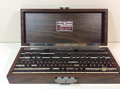 GAGE GAUGE BLOCK SET WEBBER STARRETT Metric