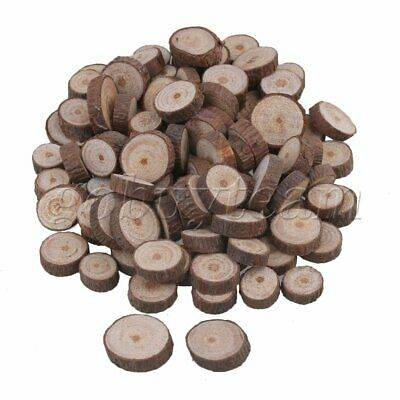 100Piece Natural Unfinished Wood Slices Wedding Craft Handmade DIY 1-2cm