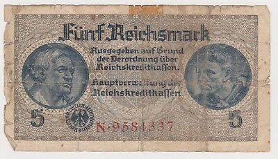 (N12-61) 1930 Germany 5 REICHMARK bank note (A)