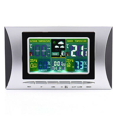 Digital Wireless Sensor Weather Station Forecast Indoor/Outdoor Thermometer Pro