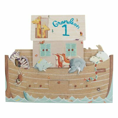 Hallmark First Birthday Card For Grandson, Pop Up Boat - Large Square