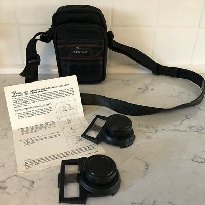 Focal Auxiliary Lens Set Telephoto Wideangle  for Sure Shot Cameras With Case