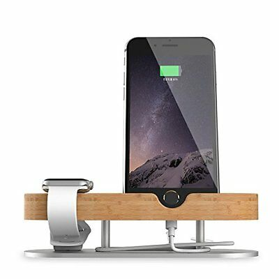 Apple Watch Stand 2 in 1 iPhone Stand iwatch Charging Dock Station Bamboo