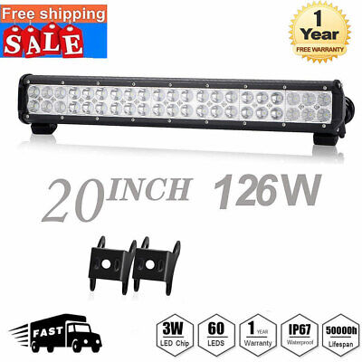 20inch CREE LED Light Bar Work Off road Truck Boat Jeep Ford SUV ATV UTE 4WD 4x4
