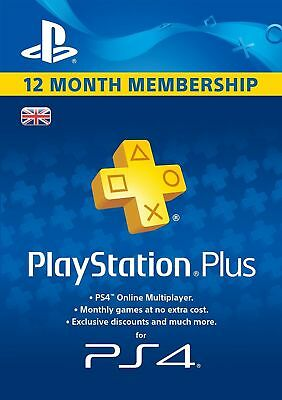 PS Plus 12 Month Membership (PS4/ PS3 / PS Vita) NEW & SEALED - Fast Dispatch