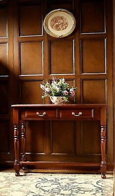 Solid Mahogany Hall Table / Console Table with 2 drawers NEW T022