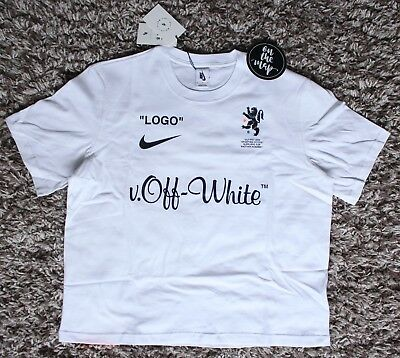 Nike x Off White Football Mon Amour T-Shirt Tee White Medium Extra Large M L 371acd205
