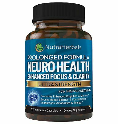 NaturaHerbals Brain Booster Supplement Nootropic Supports Memory Focus 90caps