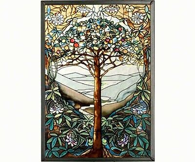 Tree of Life Sun-catcher by Glassmasters - Louis Comfort Tiffany religious