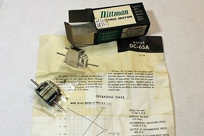Vintage Pittman NOS DC65A 12 Volt DC Motor for 1/24 Scale Slot Cars New in Box