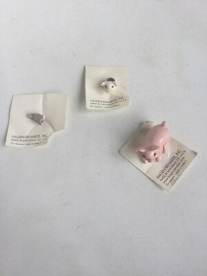 Hagen Renaker Mini miniature Animals Pig Standing Piglet Sitting Baby New Mouse