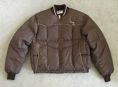 Vintage Comfy Men's Brown Made in the USA Down Coat-Size M/L-Excellent!!!!