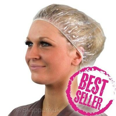 Disposable Shower Bath Caps Bathing Elastic Clear Hair Care Protector Plastic