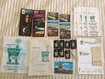 Holiday Inn vintage new ephemera postcards paper soaps bags pencil notepad OH KY