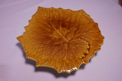 """""""Williams Sonoma"""" 10"""" Grape Leaf Plate Yellow Gold Italy - EXCELLENT"""