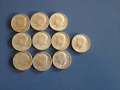 1964 50C Kennedy Half Dollar Lot 10 Pieces
