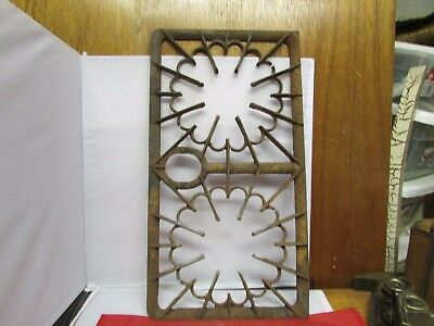 Vintage Cast Iron Top Rack For Stove 16-18-40 Very Ornate Maine Barn