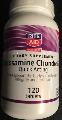 Rite Aid Glucosamine Chondroitin Quick Acting- 120 Tablets Exp 05/17