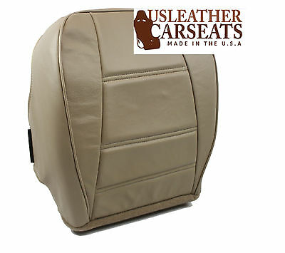 2001 Ford Mustang V6 Coupe Driver Side Bottom Leather Seat Cover Tan
