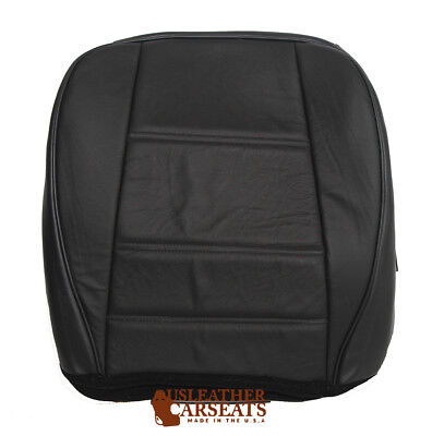 2000 Ford Mustang V6 Passenger Side Bottom Replacement Leather Seat Cover Black