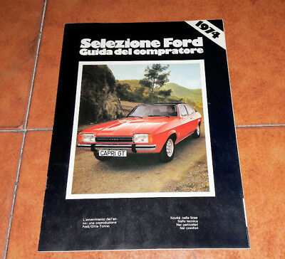 Brochure Advertisement Guida Ford Capri Escort Mustang Taunus Consul Granada 974