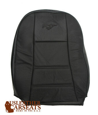 2003 Ford Mustang V6 Passenger Lean Back Replacement Leather Seat Cover Black