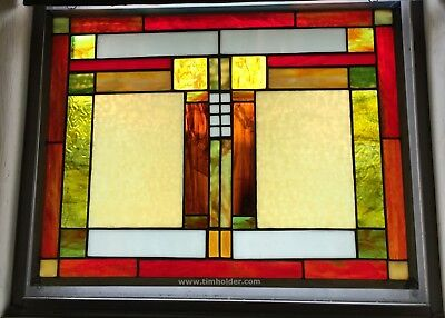 Stained Glass Window American Made High Quality Mission/Prairie Style