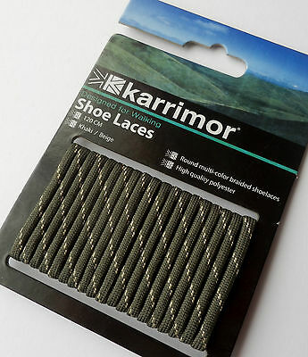 Karrimor KHAKI 120cm Long Strong Durable Shoe Boot Laces Hiking Walking Work