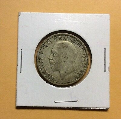 Great Britain 1928 One Florin Silver Coin