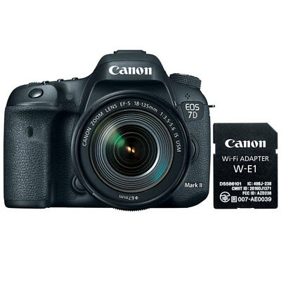 Canon EOS 7D Mark II DSLR Camera + 18-135mm IS USM Lens & W-E1 Wi-Fi Adapter
