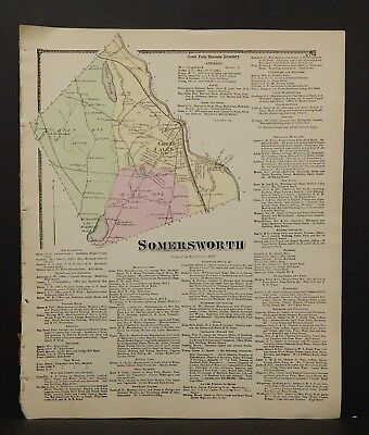 New Hampshire Strafford County Map Somersworth 1871  Y15#02