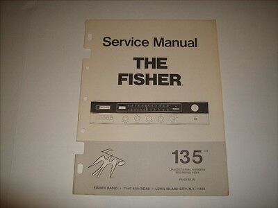 Fisher Model 135 Am/fm Stereo Receiver Service Manual Mint Condition